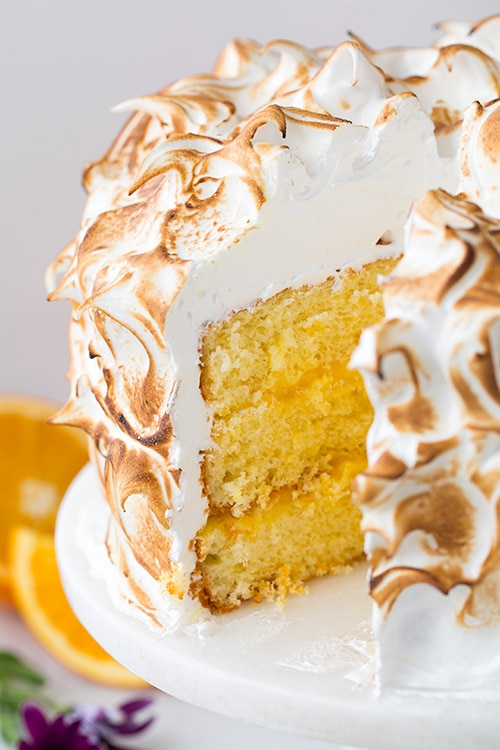 Orange Chiffon Cake with Orange Filling and Meringue | Cooking Classy