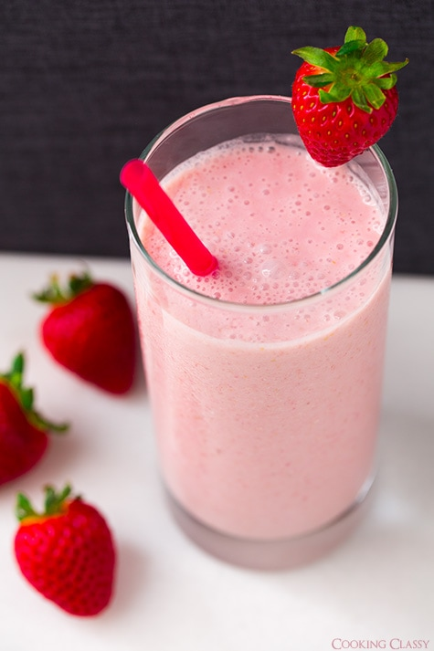 Strawberry Coconut Oat Smoothie | Cooking Classy