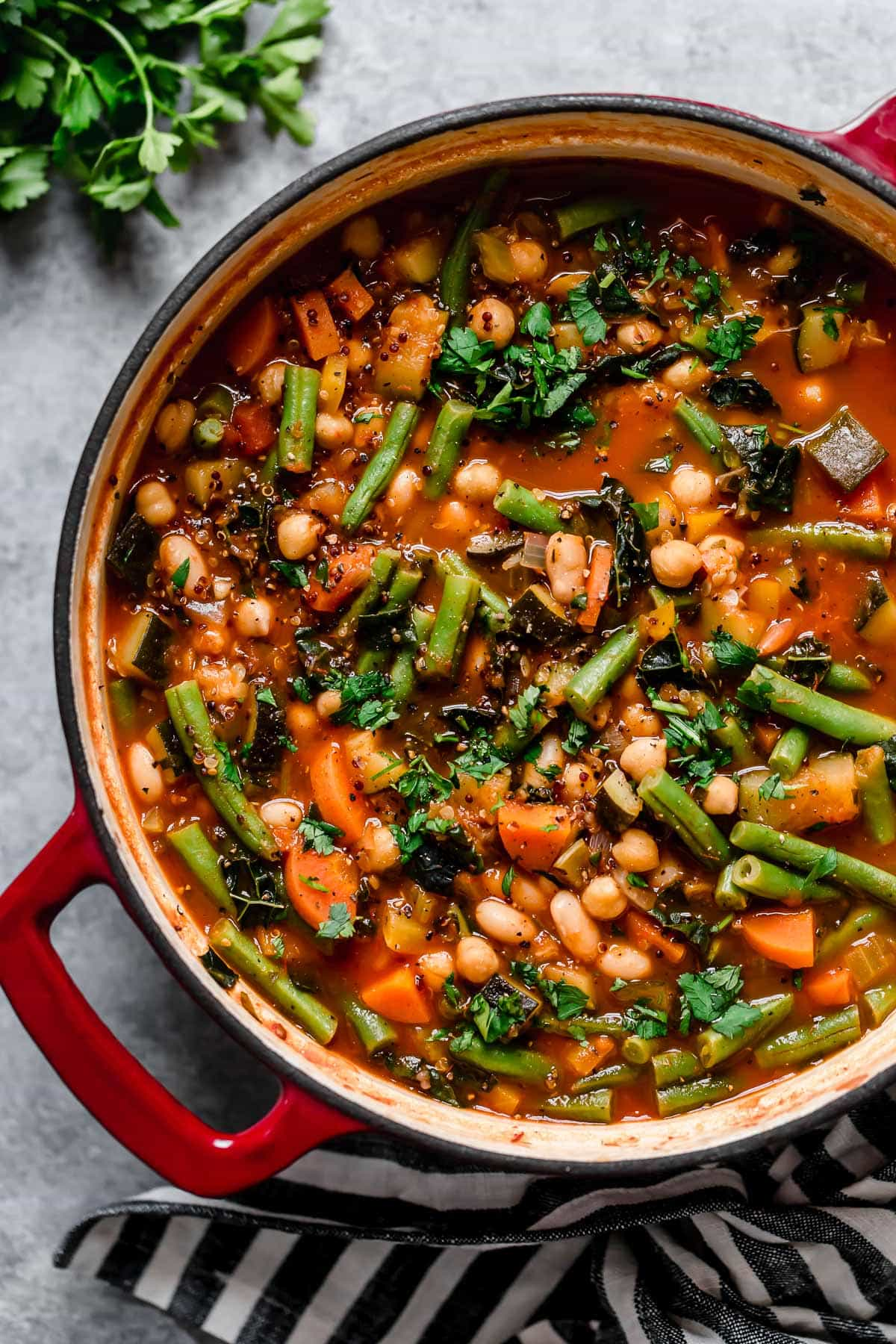 Kale and Quinoa Minestrone