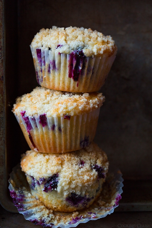 Blueberry Muffins with Streusel Topping | Cooking Classy