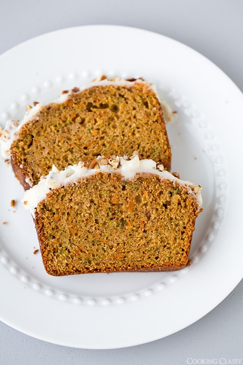 Carrot Zucchini Bread (with optional Cream Cheese Frosting) | Cooking Classy