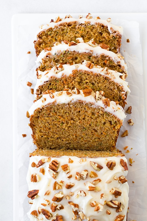 Zucchini Carrot Bread With Cream Cheese Frosting