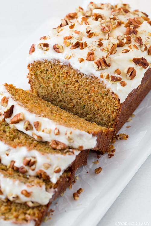 Carrot Zucchini Bread (with optional Cream Cheese Frosting) | Cooking ...