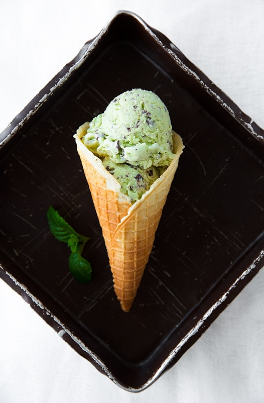 Mint Chocolate Chip Ice Cream | Cooking Classy