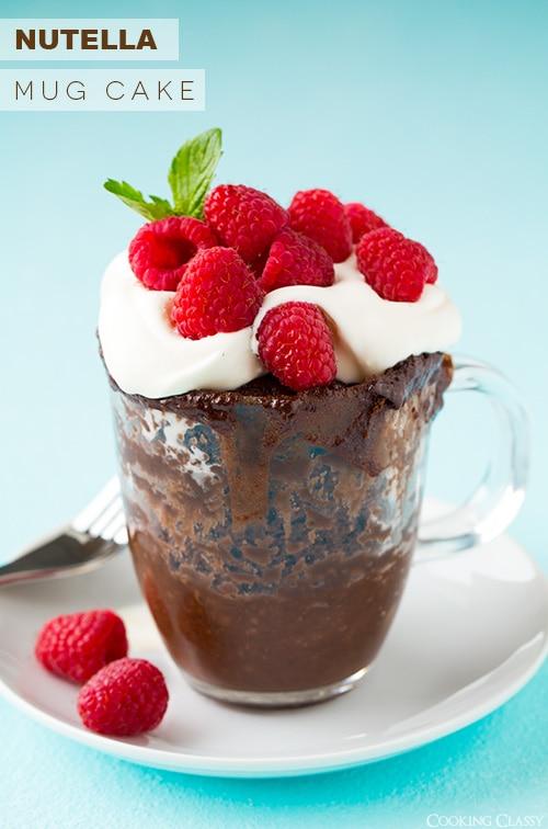 Nutella Mug Cake   Cooking Classy