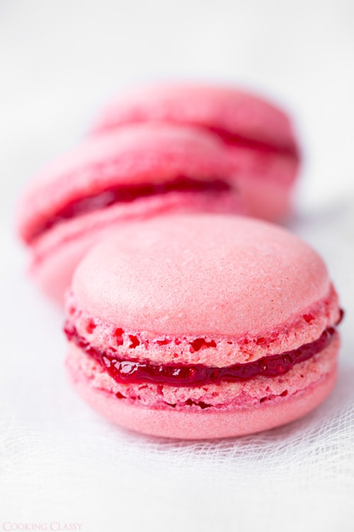 Raspberry Coconut Macarons Cooking Classy