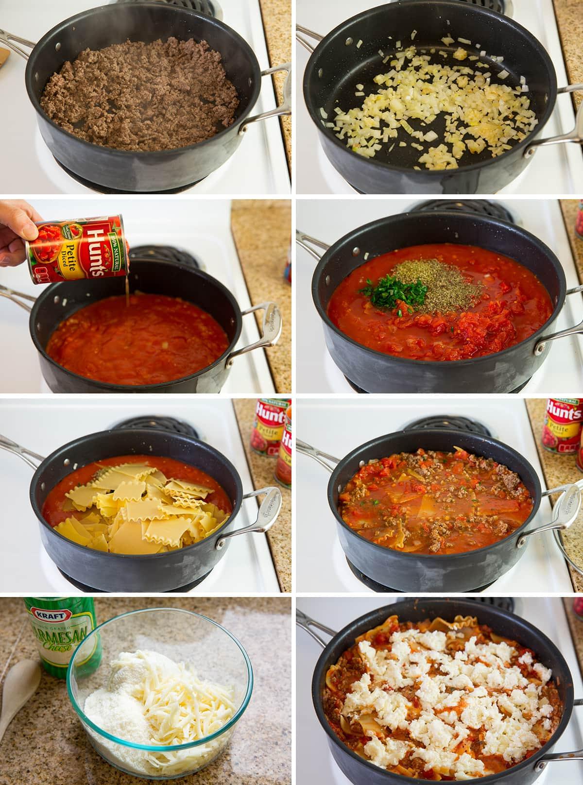 skillet lasagna all together