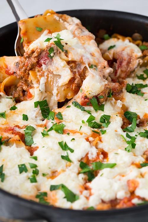 Skillet Lasagna   Cooking Classy