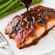 Balsamic Glazed Salmon | Cooking Classy