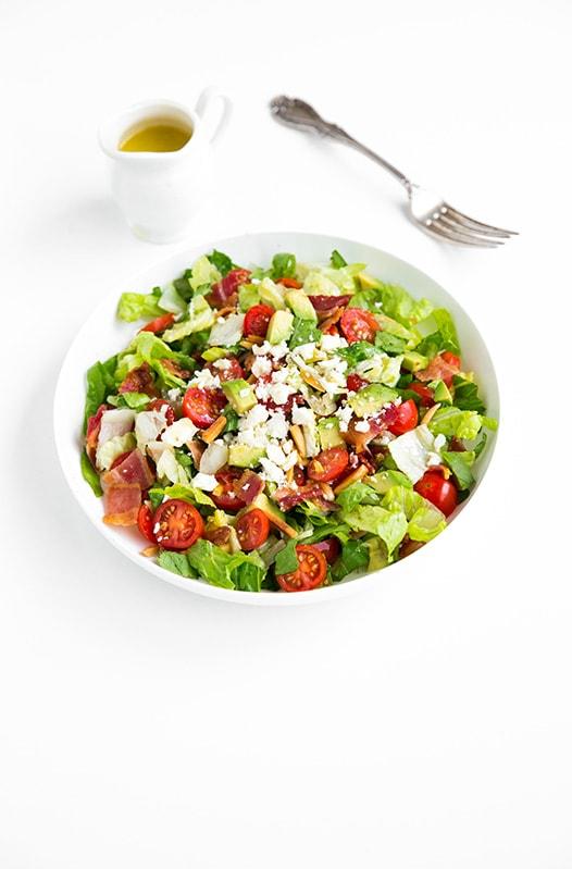 BLT Chopped Salad with Lemon Vinaigrette| Cooking Classy