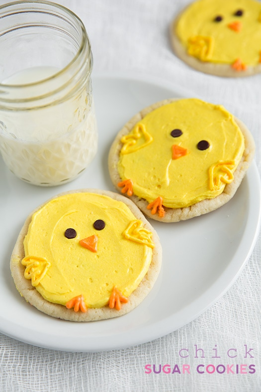Chick Sugar Cookies with Lemon Frosting (made with Pillsbury sugar cookie dough) | Cooking Classy