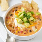Creamy Chicken Tortilla Soup {GF} | Cooking Classy