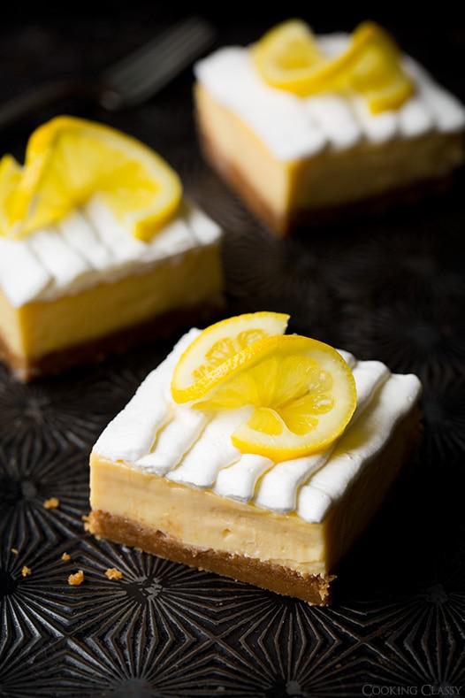 Lemon Cream Pie Bars | Cooking Classy