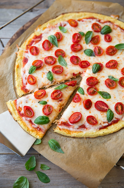 Cauliflower Pizza Crust {GF}