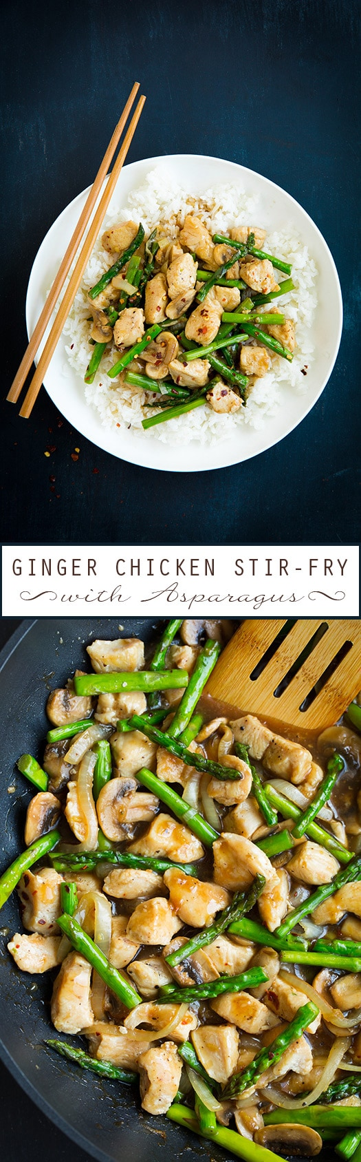 Ginger Asparagus Chicken Stir Fry Recipe