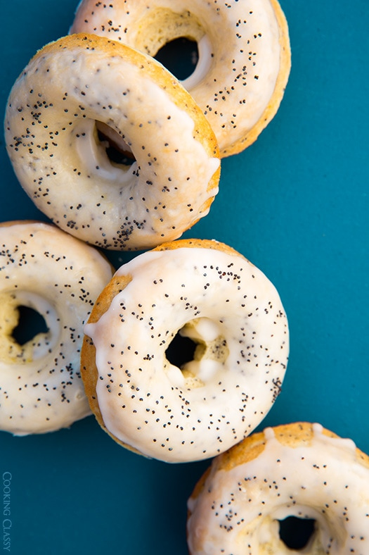 Lemon Poppy Seed Doughnuts | Cooking Classy