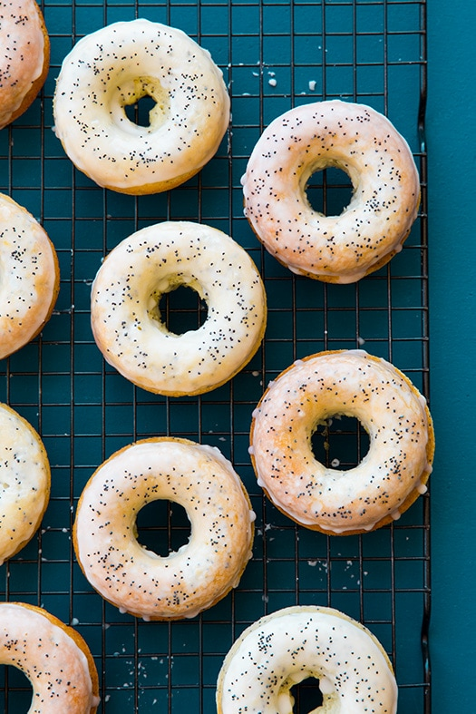 Baked Lemon Poppy Seed Doughnuts | Cooking Classy