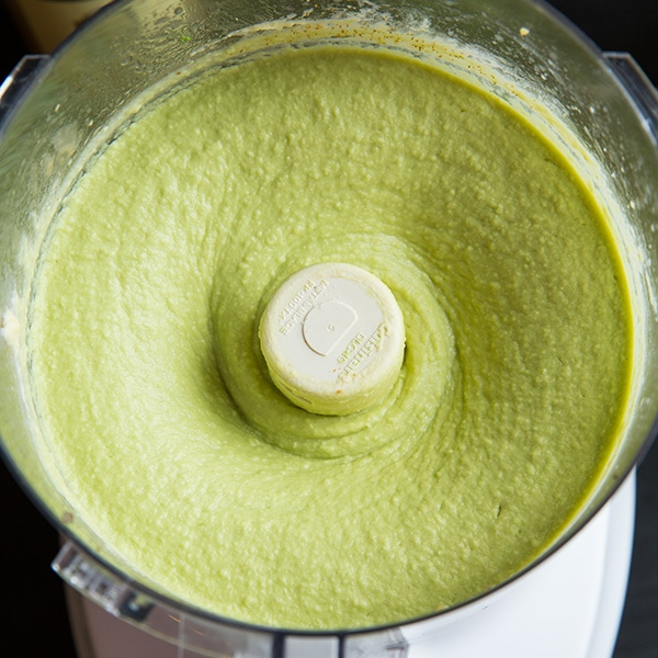 Avocado Hummus in a blender