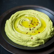 Avocado hummus in a bowl