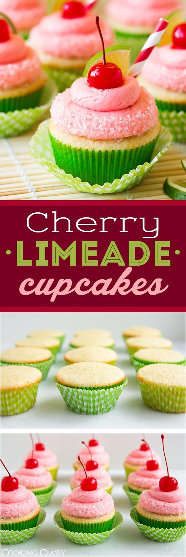 Cherry Limeade Cupcakes | Cooking Classy
