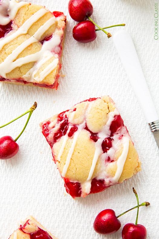 Cherry Pie Bars {AKA Cherry Kuchen Bars} - Cooking Classy