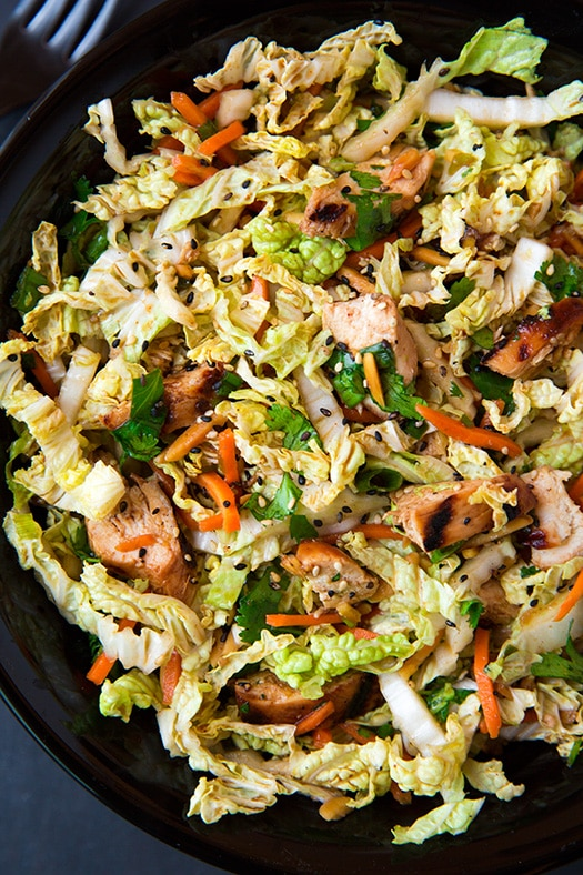 Grilled Ginger-Sesame Chicken Chopped Salad   Cooking Classy