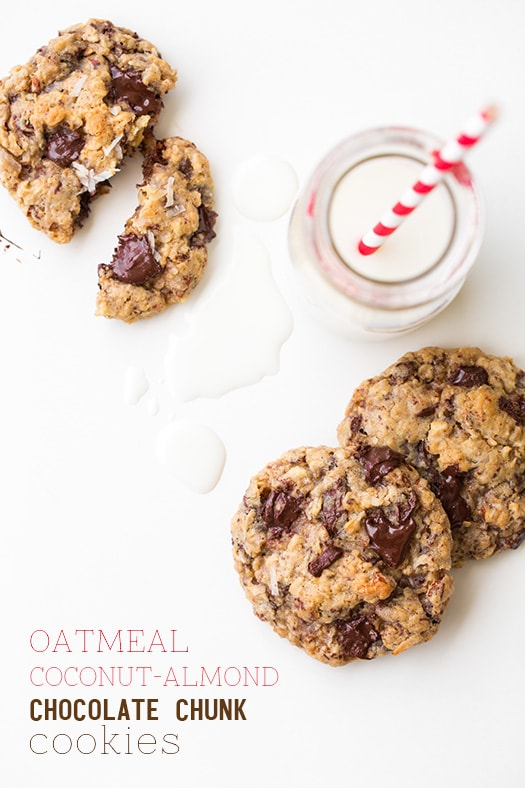 Oatmeal Coconut Almond Chocolate Chunk Cookies | Cooking Classy