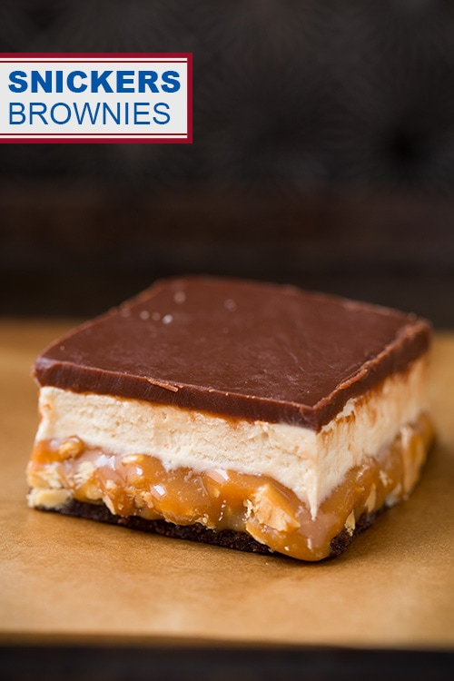 better than snickers ice cream homemade snickers bars snickers brownie ...