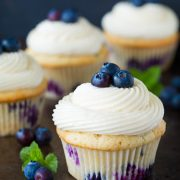 Blueberry Cupcakes with Cream Cheese Frosting | Cooking Classy