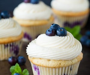 Blueberry Cupcakes with Cream Cheese Frosting   Cooking Classy