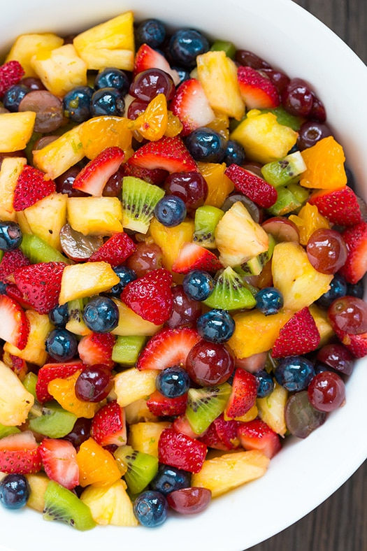 How to Make fruit salad without the creamy dressing