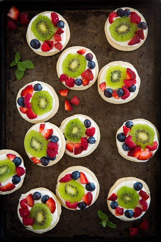 Mini Fruit Pizzas with Lemon Cream Cheese Frosting | Cooking Classy