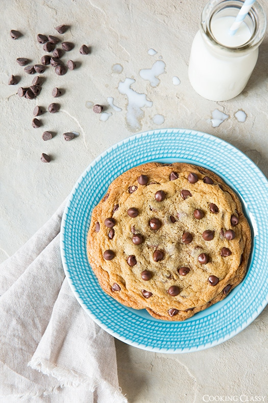 Single Serve Chocolate Chip Cookie | Cooking Classy