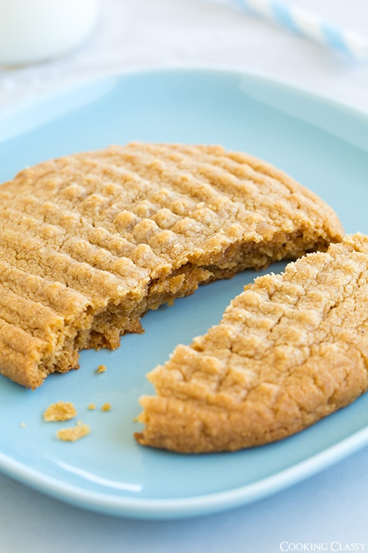 Recipe for One Peanut Butter Cookie! Flourless and only 3 ingredients!   Cooking Classy