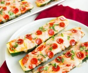 Zucchini Pizza Boats   Cooking Classy