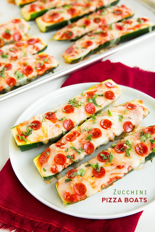 Image result for Pizza Zucchini Boats