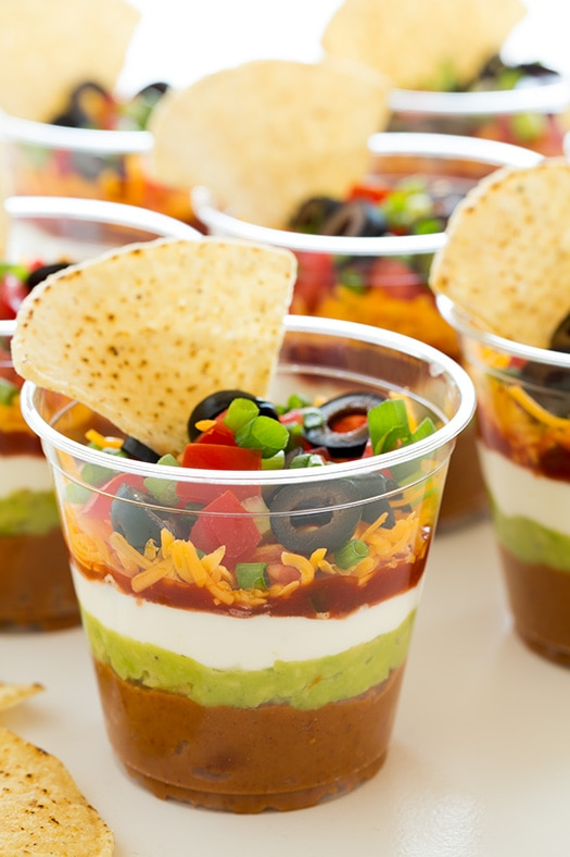 Individual 7 Layer Bean Dips | Cooking Classy