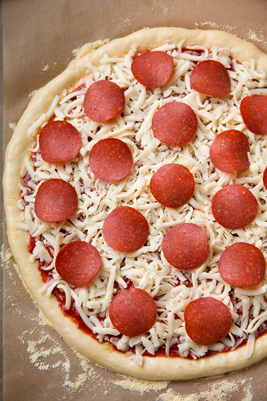 Pepperoni Pizza Homemade Dough And Pizza Sauce Recipes