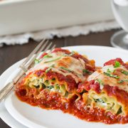 Spinach Four Cheese Lasagna Roll Ups | Cooking Classy