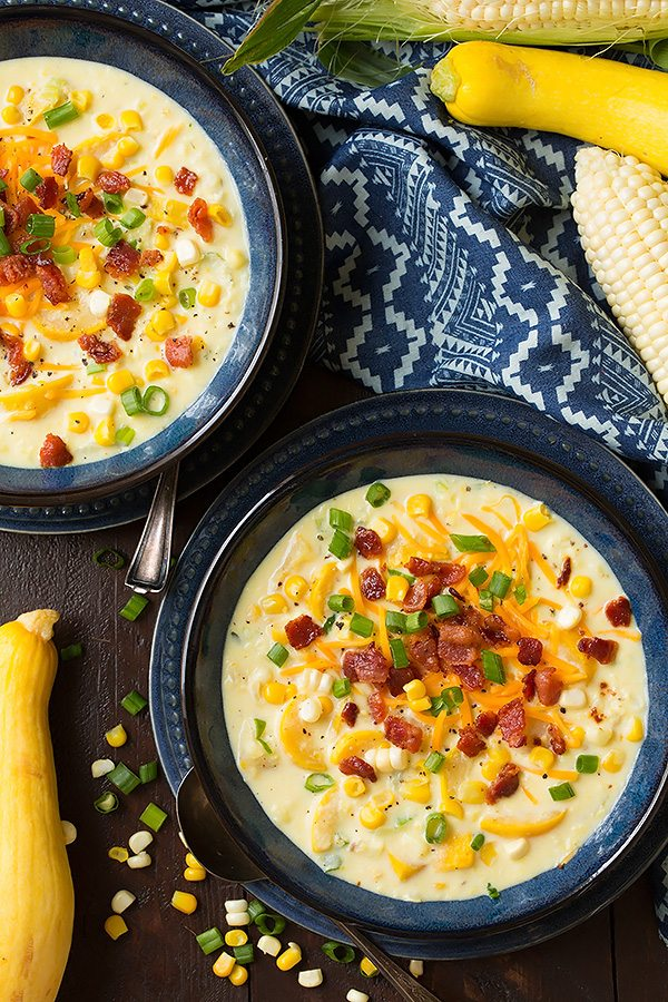 Summer Squash and Corn Chowder | Cooking Classy