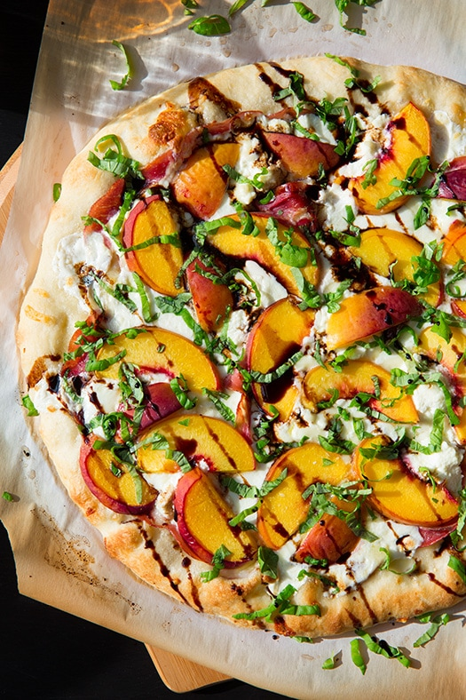 Peach Amp Prosciutto Pizza With Balsamic Reduction Cooking