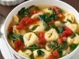 Fresh Spinach and Tomato Tortellini Soup | Cooking Classy