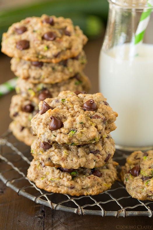 Zucchini Oat Chocolate Chip Cookies | Cooking Classy