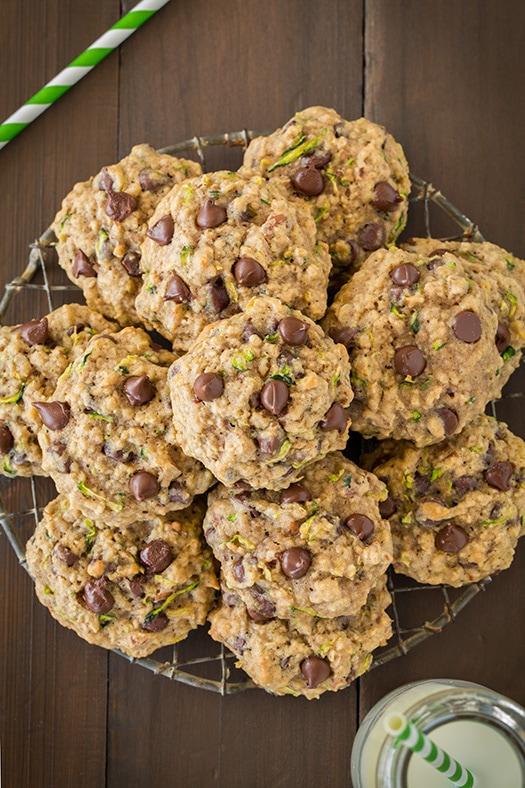 Zucchini Oatmeal Chocolate Chip Cookies