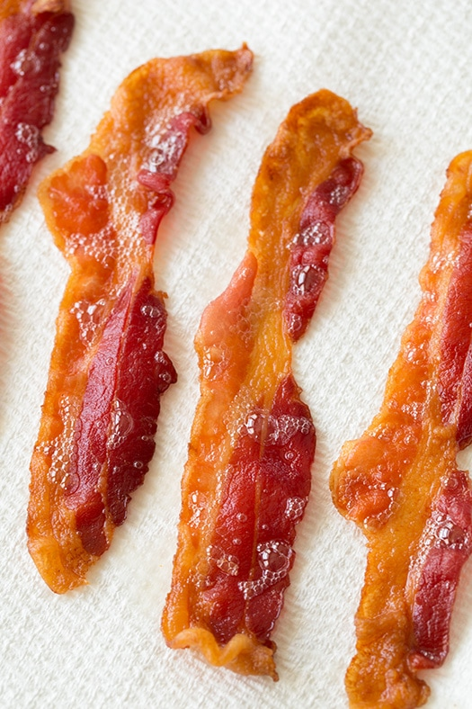 A close up of crispy bacon