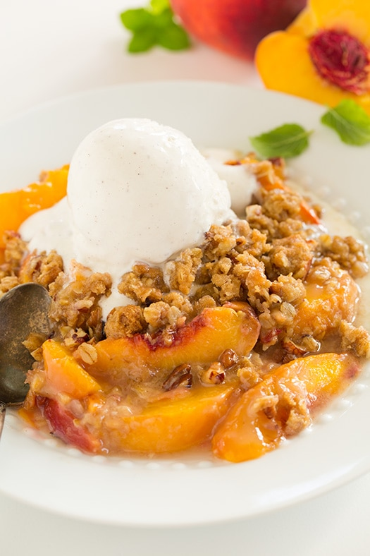 Peach Crisps Recipe — Dishmaps