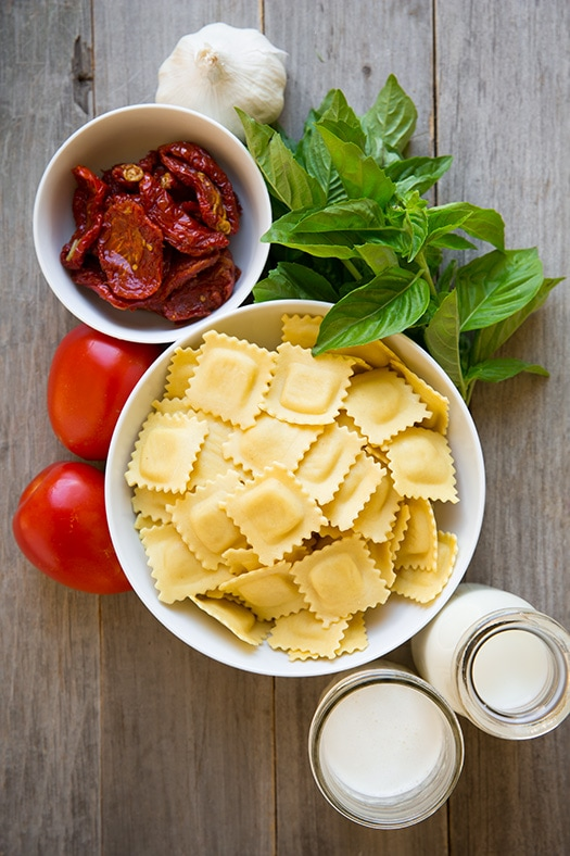Ravioli with Creamy Sundried Tomato and Basil Sauce | Cooking Classy