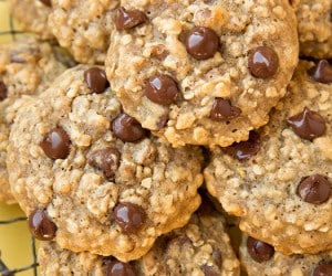 Banana Oat Chocolate Chip Cookies | Cooking Classy