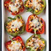 Chicken Fajita Stuffed Peppers | Cooking Classy