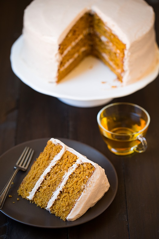 layer cake with caramel cream cheese frosting the cake this pumpkin ...